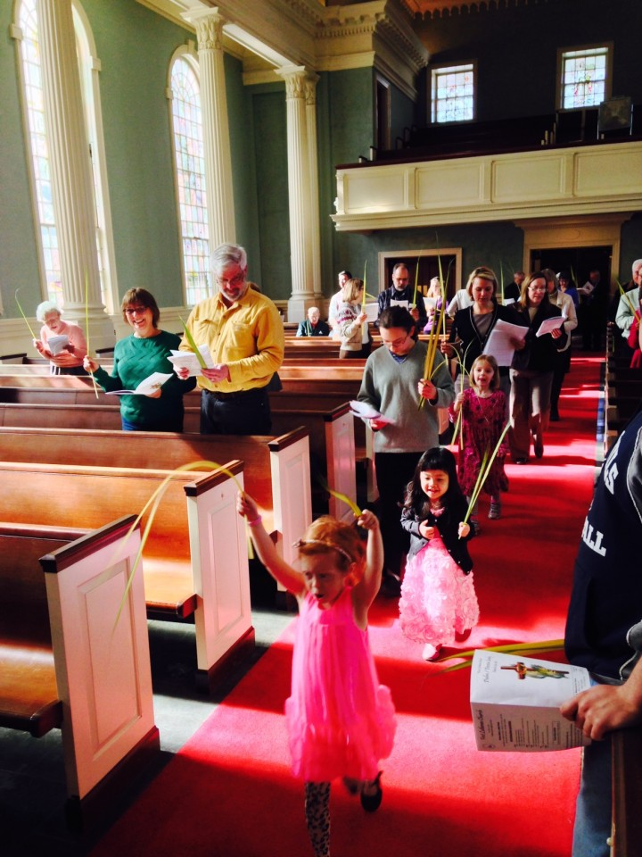 Palm Sunday Procession kids 2015